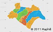 Political Map of Bazega, single color outside