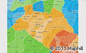 Political Shades Map of Bazega