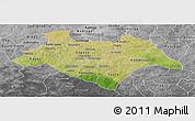 Satellite Panoramic Map of Bazega, desaturated