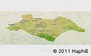 Satellite Panoramic Map of Bazega, lighten