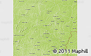 Physical 3D Map of Bougouriba