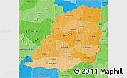Political Shades 3D Map of Bougouriba