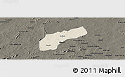 Shaded Relief Panoramic Map of Founzan, darken