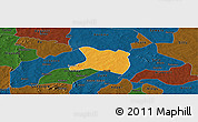 Political Panoramic Map of Koti, darken