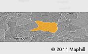 Political Panoramic Map of Koti, desaturated