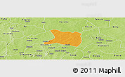 Political Panoramic Map of Koti, physical outside