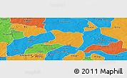 Political Panoramic Map of Koti