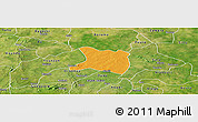 Political Panoramic Map of Koti, satellite outside