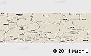 Shaded Relief Panoramic Map of Koti