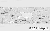 Silver Style Panoramic Map of Koti