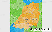 Political Shades Map of Bougouriba