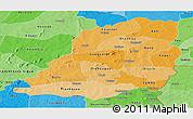 Political Shades Panoramic Map of Bougouriba