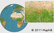 Satellite Location Map of Bane
