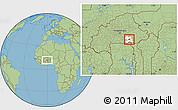 Savanna Style Location Map of Bane, highlighted parent region