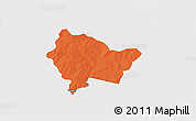 Political 3D Map of Bittou, cropped outside