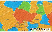 Political 3D Map of Bittou