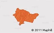 Political 3D Map of Bittou, single color outside