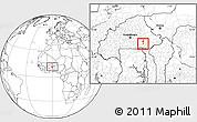 Blank Location Map of Dourtenga
