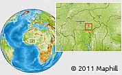 Physical Location Map of Dourtenga