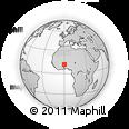 Outline Map of Dourtenga