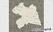 Shaded Relief Map of Boulgou, darken