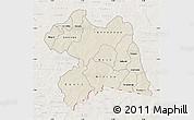 Shaded Relief Map of Boulgou, lighten
