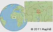 Savanna Style Location Map of Ouargaye