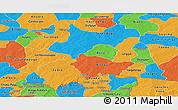 Political Panoramic Map of Boulgou