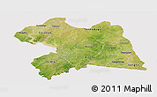 Satellite Panoramic Map of Boulgou, cropped outside