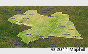 Satellite Panoramic Map of Boulgou, darken