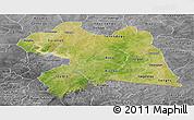 Satellite Panoramic Map of Boulgou, desaturated