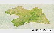 Satellite Panoramic Map of Boulgou, lighten