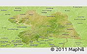Satellite Panoramic Map of Boulgou, physical outside