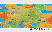 Satellite Panoramic Map of Boulgou, political outside