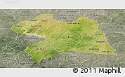 Satellite Panoramic Map of Boulgou, semi-desaturated