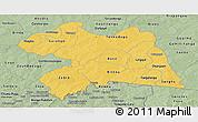 Savanna Style Panoramic Map of Boulgou