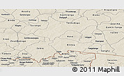 Shaded Relief Panoramic Map of Boulgou