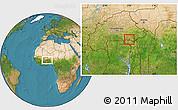 Satellite Location Map of Sangha
