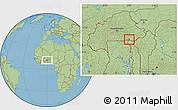 Savanna Style Location Map of Sangha
