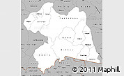 Gray Simple Map of Boulgou