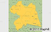 Savanna Style Simple Map of Boulgou