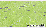 Physical 3D Map of Tenkodogo