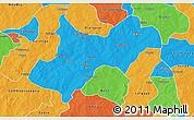 Political 3D Map of Tenkodogo