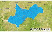 Political 3D Map of Tenkodogo, satellite outside