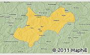 Savanna Style 3D Map of Tenkodogo