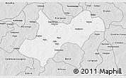Silver Style 3D Map of Tenkodogo