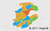 Political 3D Map of Boulkiemde, single color outside
