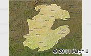 Satellite 3D Map of Boulkiemde, darken