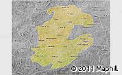 Satellite 3D Map of Boulkiemde, desaturated