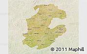 Satellite 3D Map of Boulkiemde, lighten